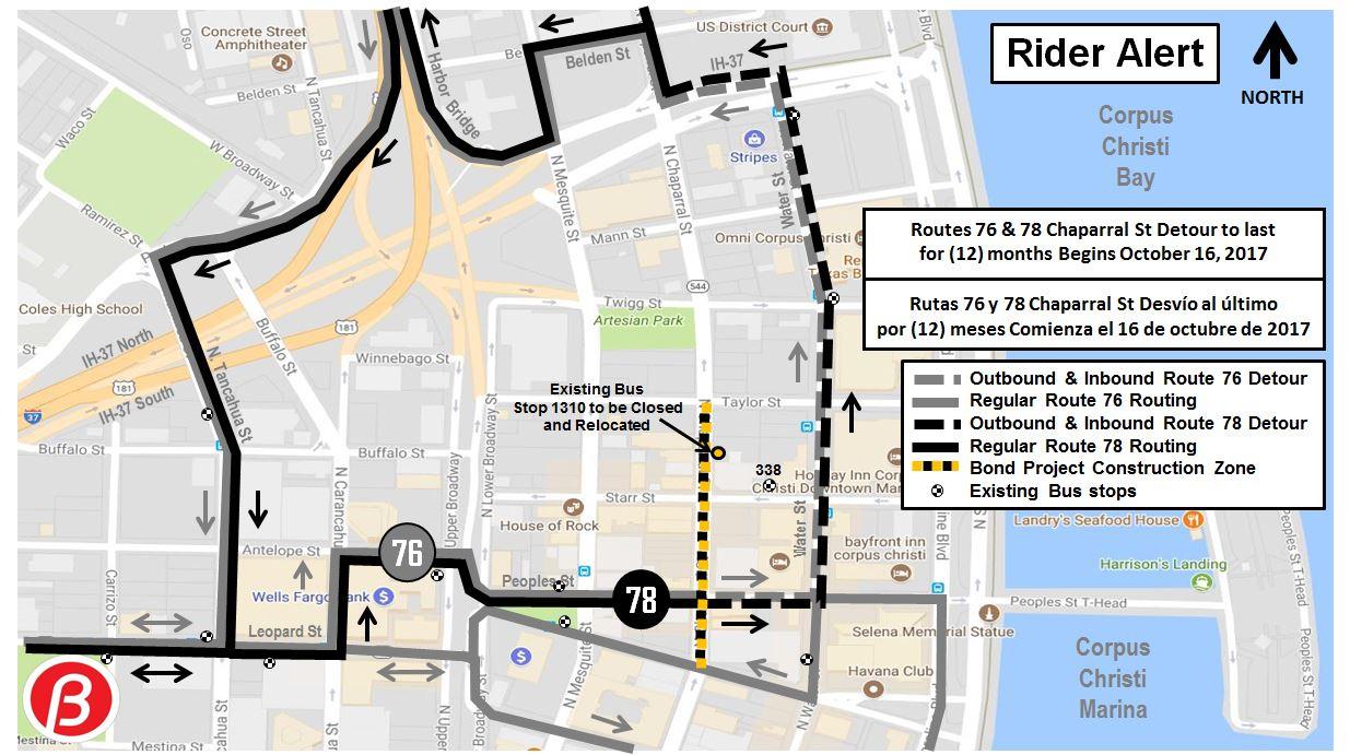 chaparral st detour-use to print – cc regional transit authority
